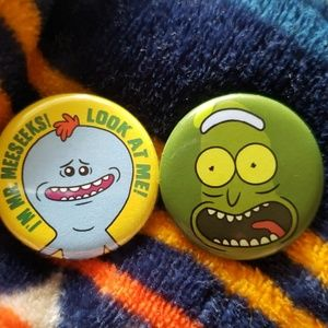 Rick and Morty button pin bundle